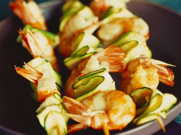 Shrimp and Zucchini Kebabs