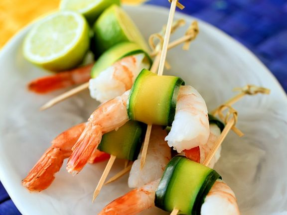 Shrimp and Zucchini Skewers