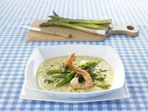 Shrimp Soup with Green Asparagus