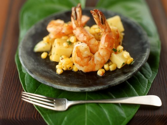 Shrimp with Vegetable Relish