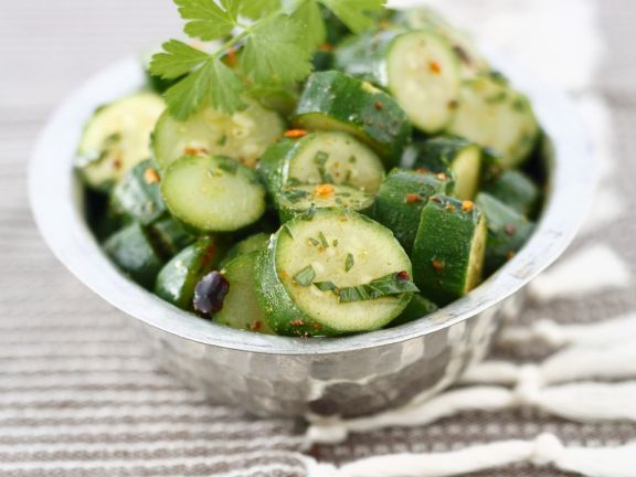 Simple Courgette Salad Bowl