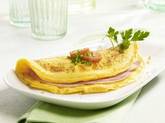 Simple Ham Omelette