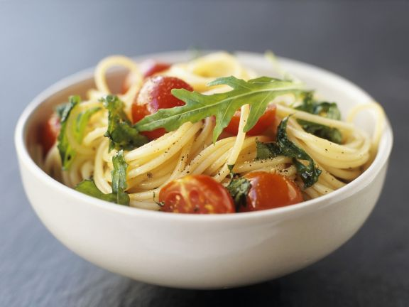Simple pasta and tomato bowl