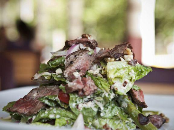 Sirloin Steak on Romaine Salad