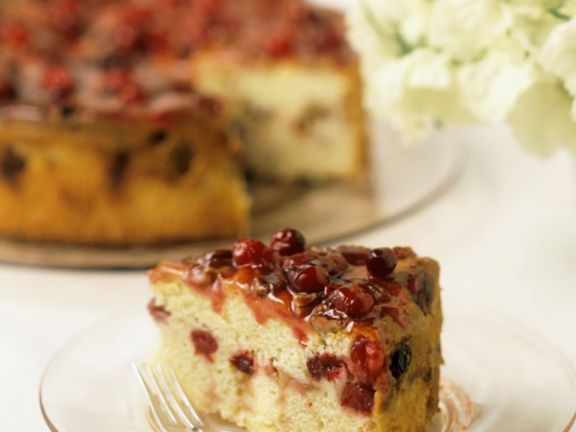 Slice of Red Berry Gateau
