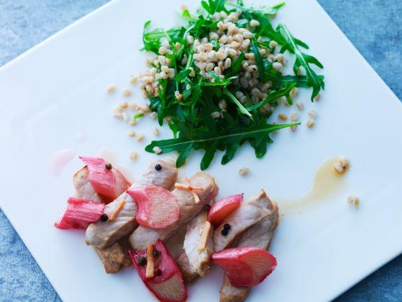 Sliced Veal with Grains