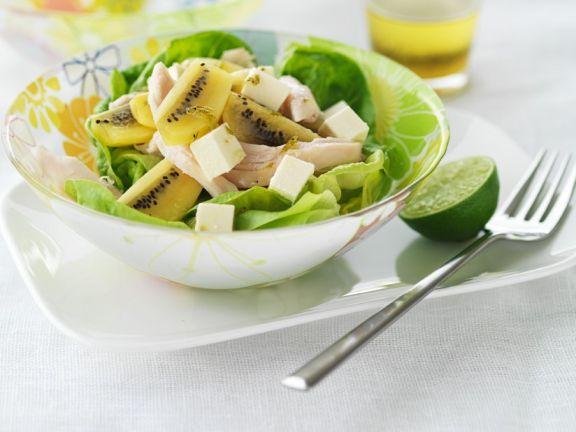 Salty Cheese and Kiwi Salad