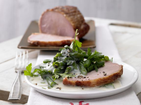Smoked Ham with Green Beans