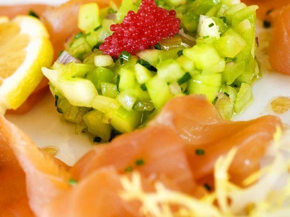Smoked Salmon and Cucumber Salad