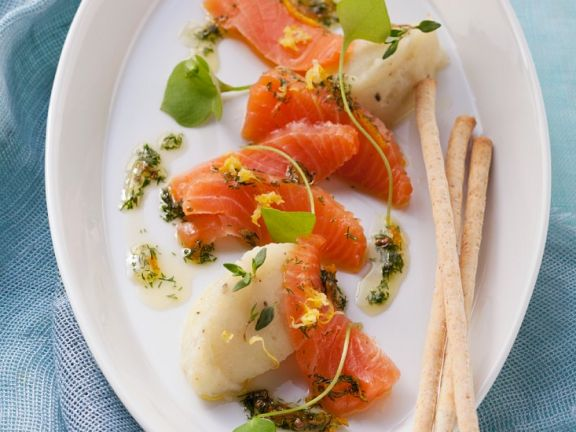 Smoked Salmon with Mash