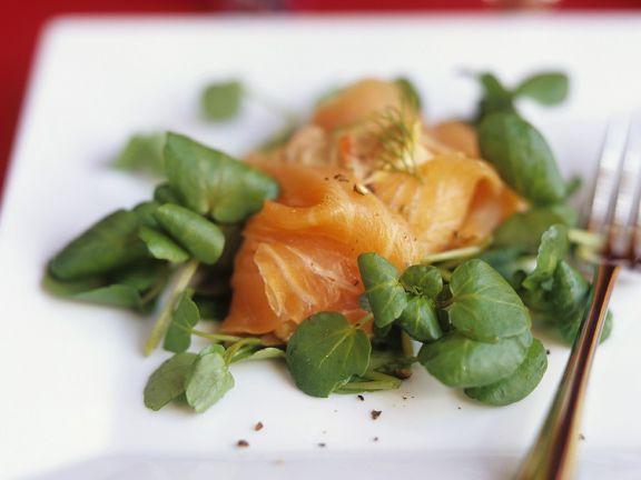 Smoked Salmon with Watercress