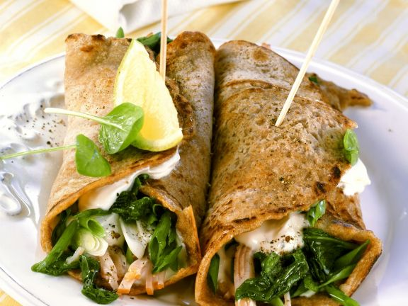 Smoked Turkey and Spinach Wraps