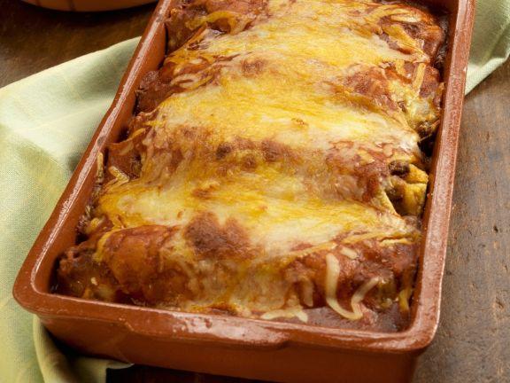 Smothered Chicken Enchiladas