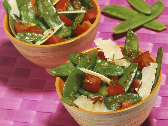 Snow Pea Salad with Shaved Parmesan