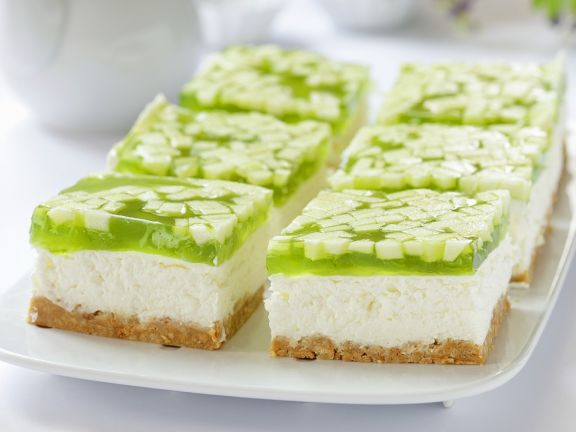 Soft Cheese Gateau Squares