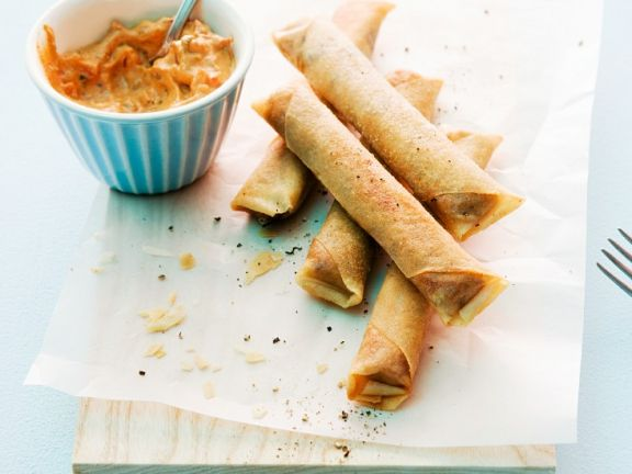 Soft Cheese Spring Rolls