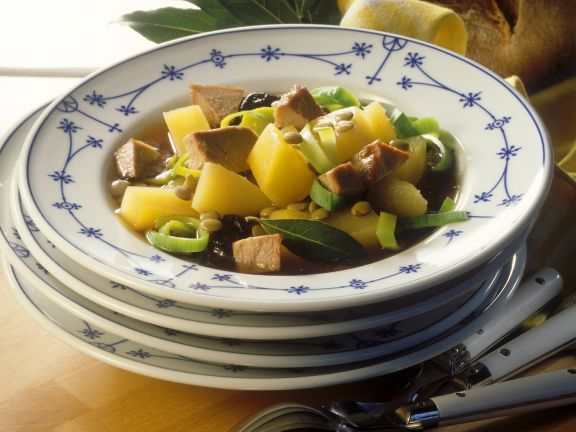 Soup with Turnips and Goose