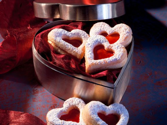Sour Cream Cookies with Raspberry Jelly