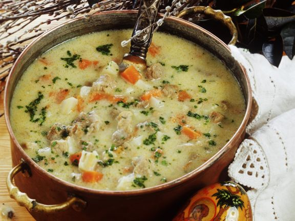 Festive Meat and Veggie Soup