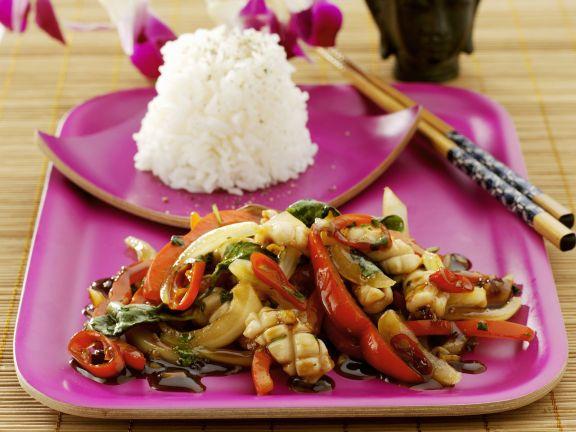 Sout-east Asian Chicken Stir-fry