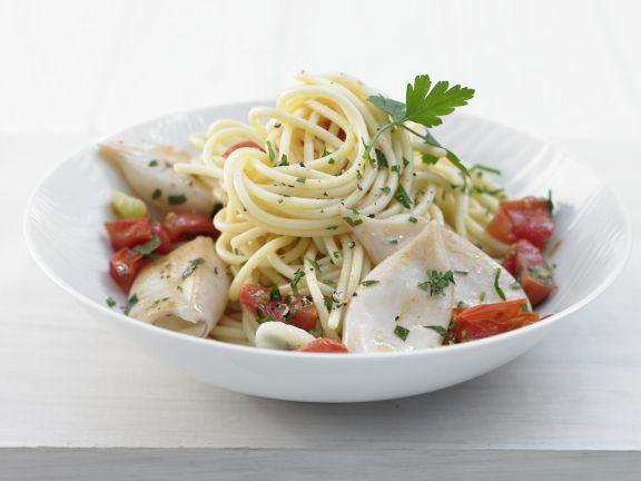Spaghetti with Calamari