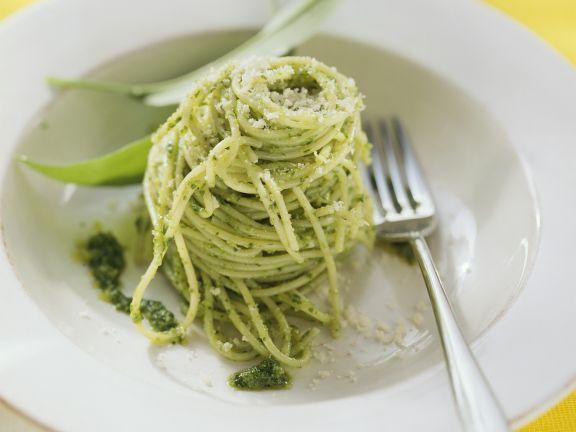 Pasta with Wild Garlic Pesto