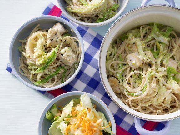Spaghetti Pot with Savoy Cabbage