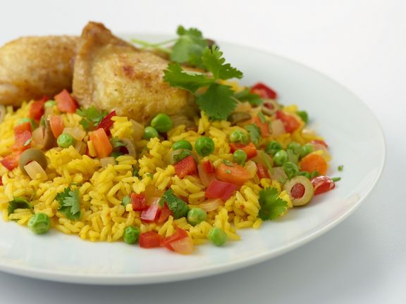 Spanish-style Chicken with Rice