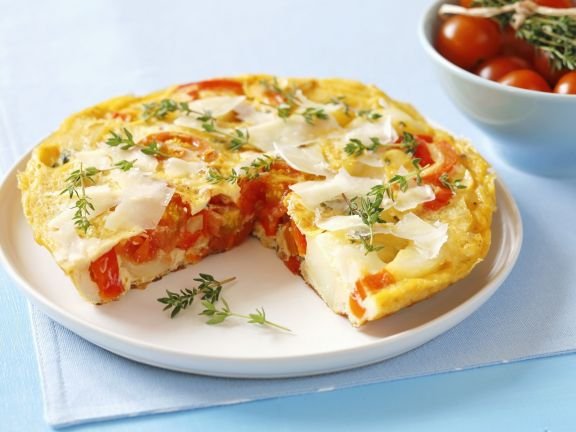 Spanish-Style Potato and Red Pepper Omelette