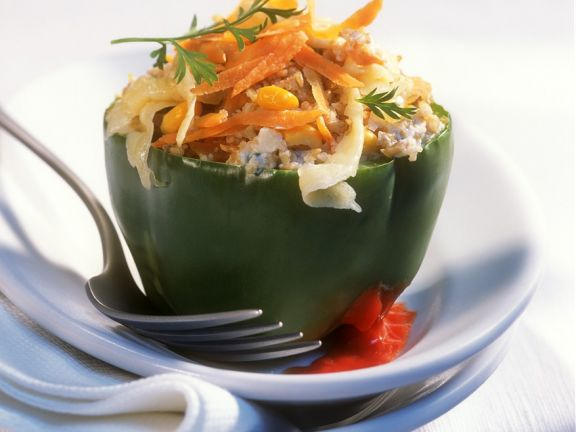 Spelt and Vegetable Stuffed Peppers