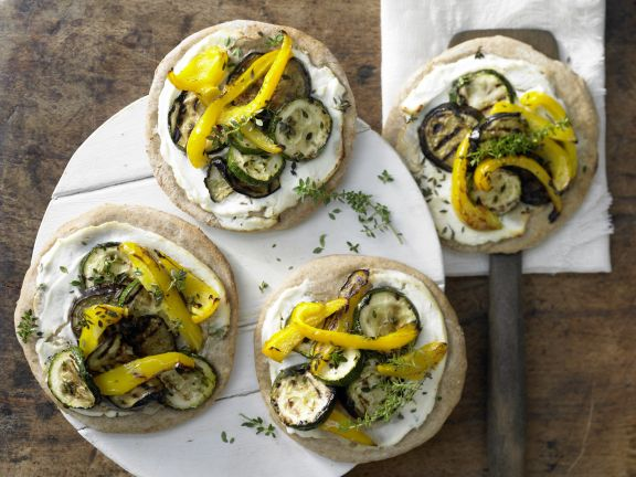 Spelt Pizza with Grilled Vegetables