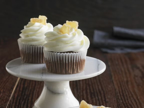 Spiced Chocolate Muffins with Ginger Buttercream