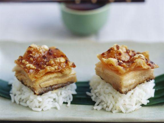 Spiced Pork Belly Rice Bites