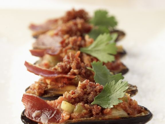 Spicy Baked Mussels