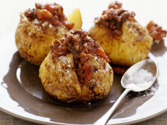 Spicy Beef Jacket Potatoes