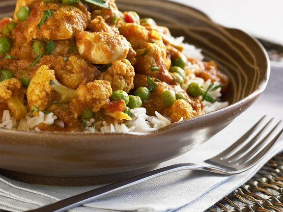 Spicy Chicken and Pea Stew