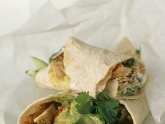 Spicy Chicken Tortilla Wraps