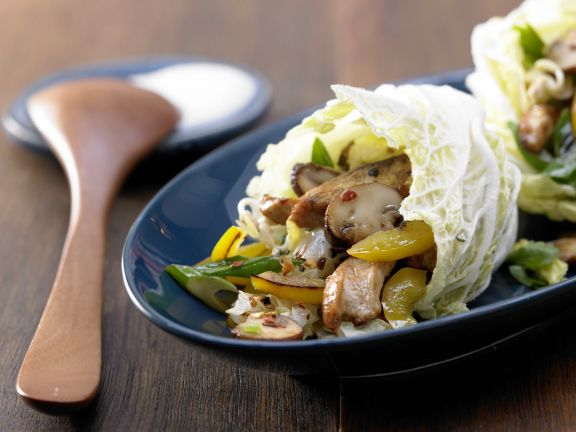 Spicy Chinese Cabbage Wraps