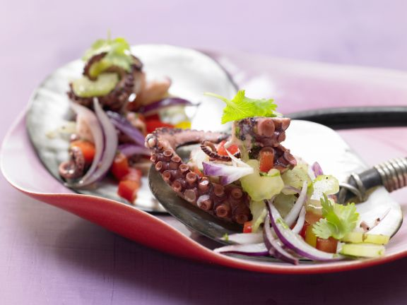 Spicy Octopus and Vegetable Salad