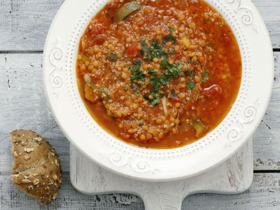 Spicy Red Lentil and Tomato Stew