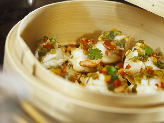 Spicy Steamed Scallops