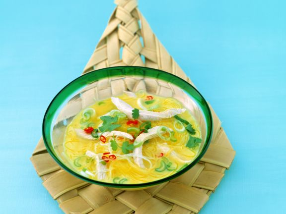 Spicy Turkey Coconut Soup with Glass Noodles