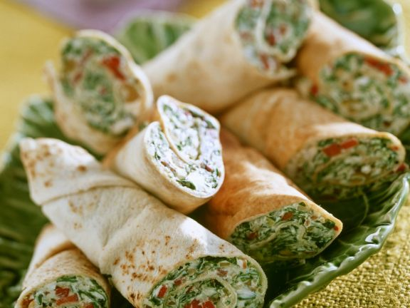 Spinach and Cheese Wraps