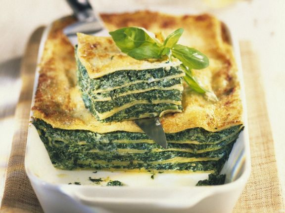 Spinach and Pasta Layer Bake