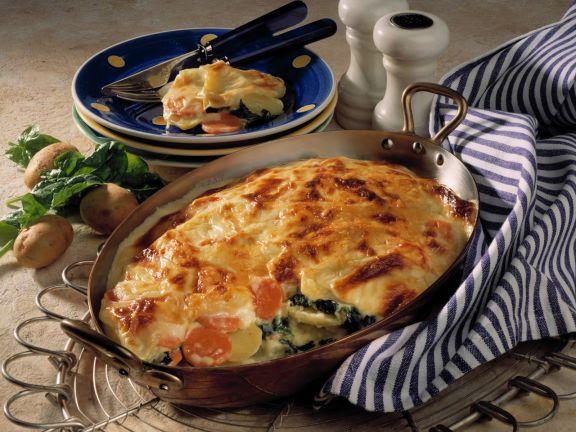 Spinach and Potato Lasagna with Béchamel Sauce
