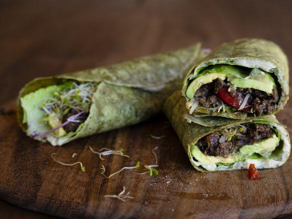 Spinach Beef Veggie Wrap