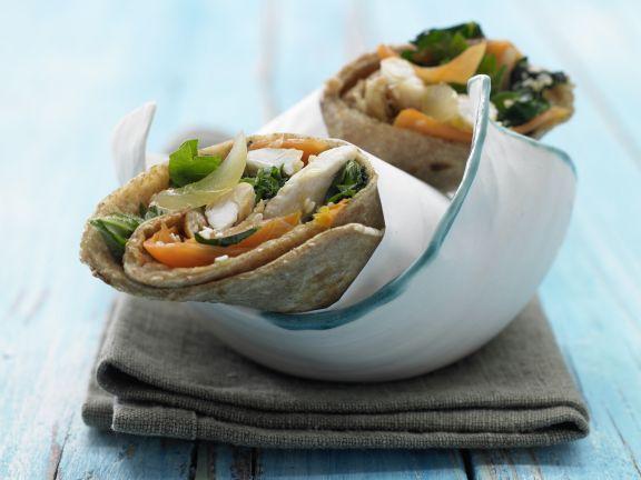 Nettle-Chicken Wraps