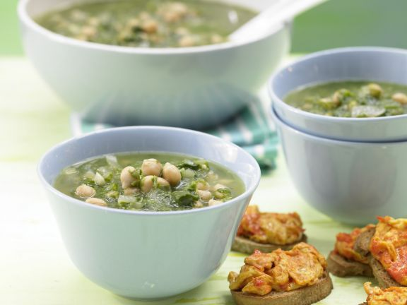 Spinach-Chickpea Soup