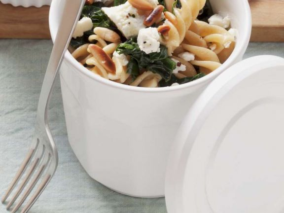 Spinach Pasta Salad with Feta