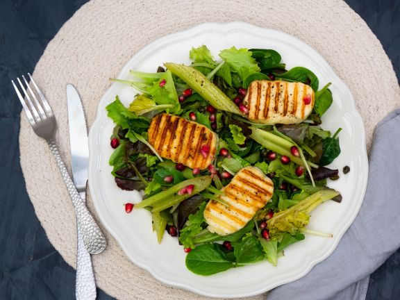 Spring Salad with Halloumi Cheese